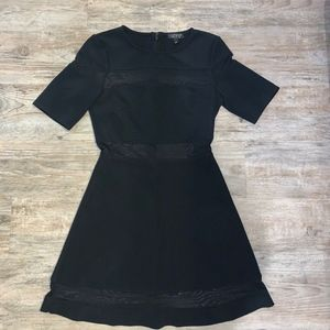 Topshop Mesh Paneled Skater Dress